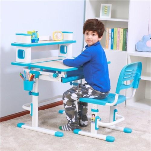BN Blue Adjustable Children/'s Study Desk Chair Set Kids Table W//Desk lamp New